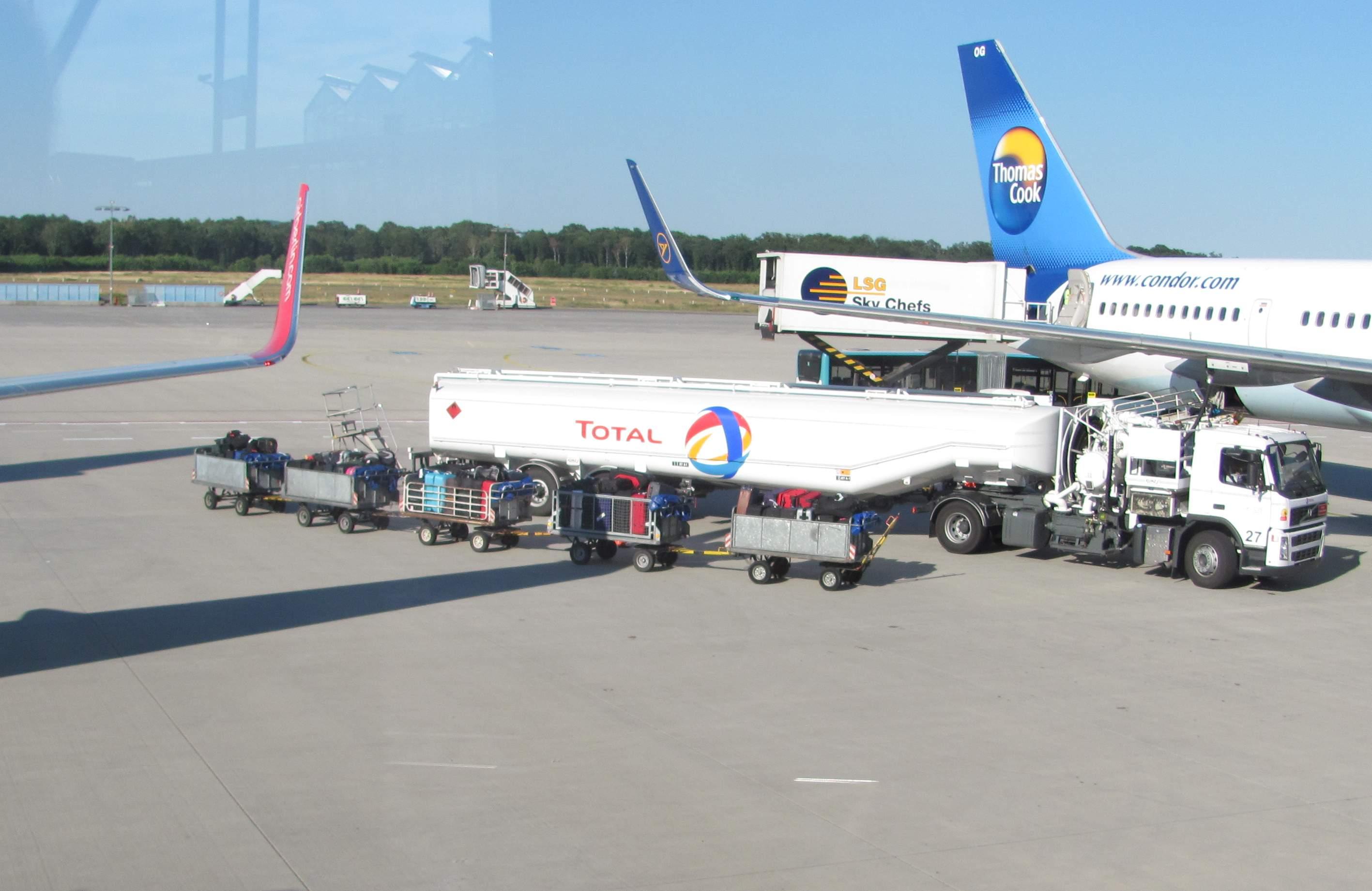 Kurz vor dem Abflug noch einen Blick auf das Gepäck.