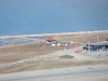 Longyearbyen Camping und der Flugafen aus der Vogel-Perspektive