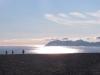 Isfjorden-Mündung mit Sonnenschein