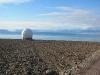 Satelliten-Empfänger vor dem Isfjorden