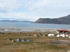 Zeltplatz Longyearbyen von oben.