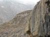 Imposante Felsmassive erschweren das Vorankommen.