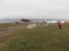 Eisbär-Warnanlage um ein Zelt