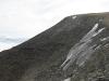 Aus dem Berg tritt Frost aus