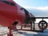 In einem Flugzeug-Modell übt die Feuerwehr den Ernstfall.